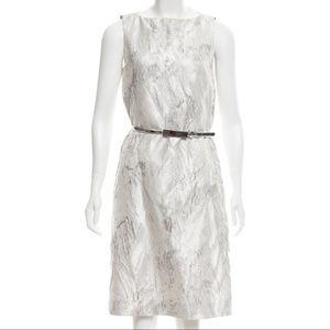 Michael Kors Collection White Silver Silk Dress